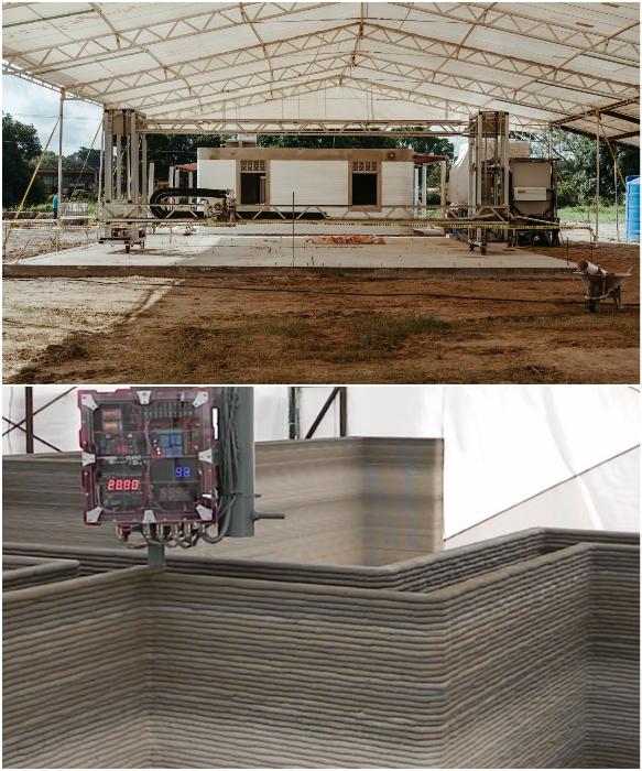 Строительство усложняется постоянными дождями, поэтому приходится делать над стройплощадкой крышу. | Фото: yaplakal.com/ habr.com. © New Story.