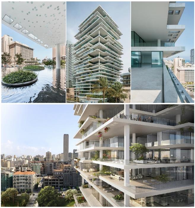 Ультрасовременный жилой небоскреб ливанской столицы («Beirut Terraces», Бейрут). | Фото: arch2o.com/ archcompetition.net.