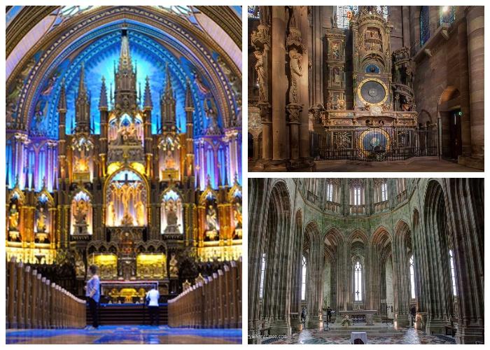 Красота средневекового собора Notre-Dame Cathedral поражает своим величием.