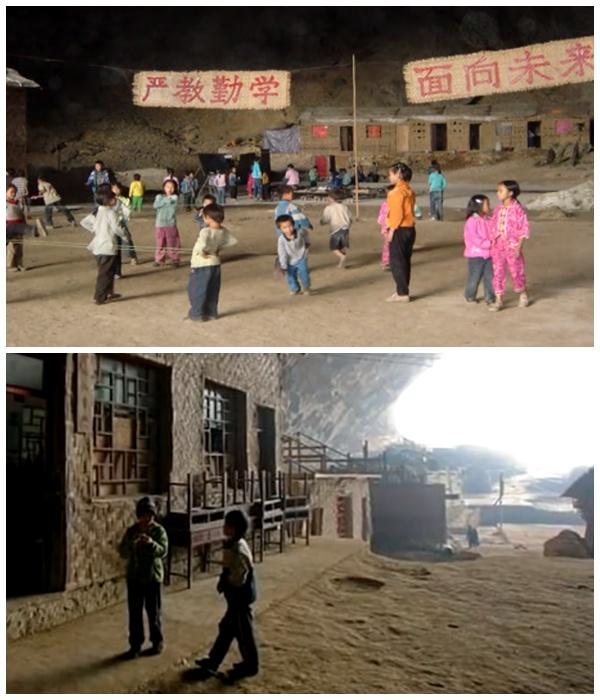 Самые маленькие жители деревни под сводами древней пещеры (Чжундун, Китай). | Фото: youtube.com.