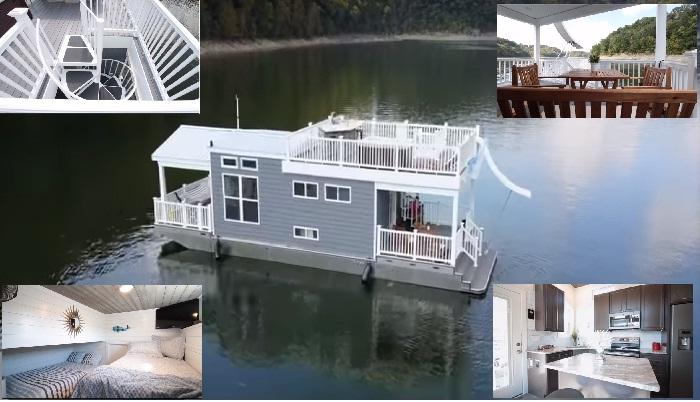 Необычный дом на воде спроектировала компания Harbor Cottage Households (США).
