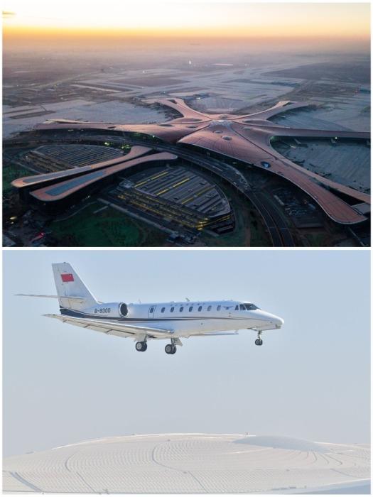 Взлетно-посадочная полоса West One Runway 22 января 2019 г. в рамках испытательных мероприятий приняла свой первый самолет (аэропорт «Дасин», Пекин). | Фото: newizv.ru.