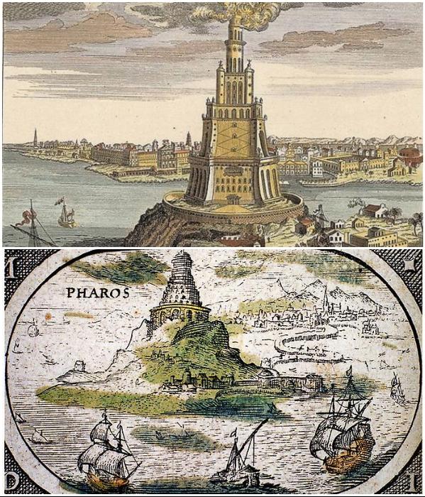 Александрийский маяк в Фароссе является одним из 7 чудес света (Египет). | Фото: lifeglobe.net.