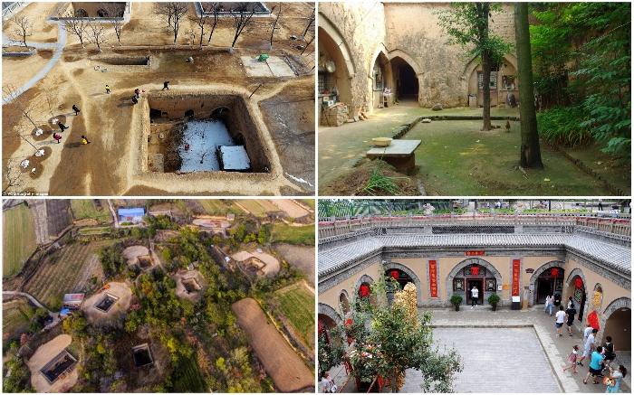 Китайцы до сих пор строят подземные дома и целые поселки. | Фото: bigpicture.ru/ pastuh83.livejournal.com.