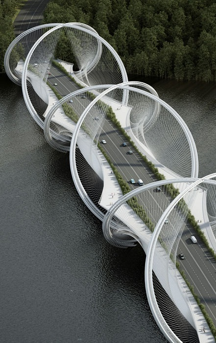 Мост San Shan в Пекине напоминает Олимпийские кольца. | Фото: revistaestilopropio.com.