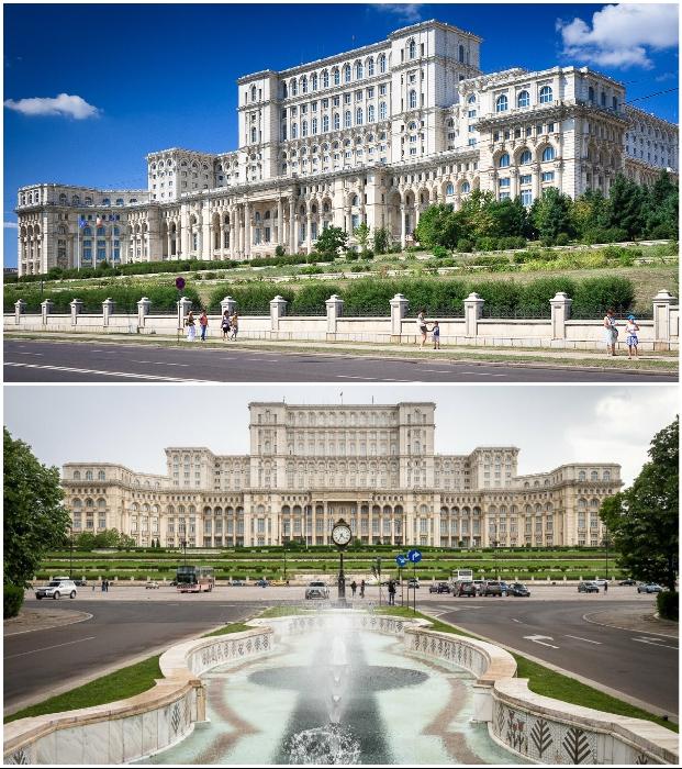 Дворец Парламента –шедевральное творение своего времени и главное украшение Бухареста (Румыния).