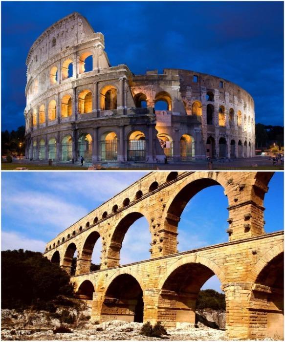 Колизей и древнеримский акведук. | Фото: dom-sweet-dom.ru.