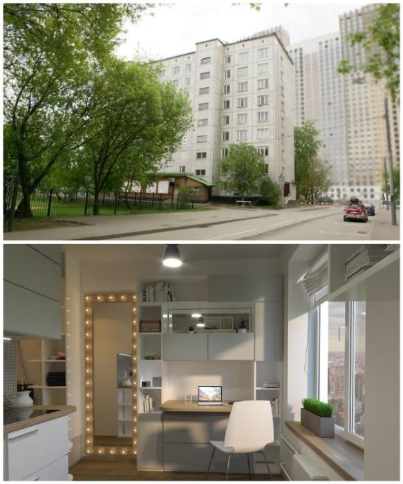В старом общежитии сделали капитальный ремонт и теперь продают квартиры площадью от 11.6 кв.м (Москва, Россия). avaho.ru.