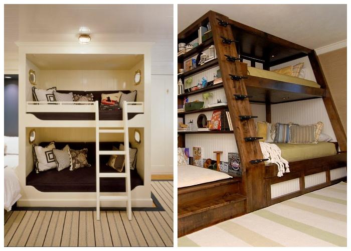 Двухуровневая мебель всегда поможет организовать дополнительное пространство и места хранения. | Фото: museum-design.ru.