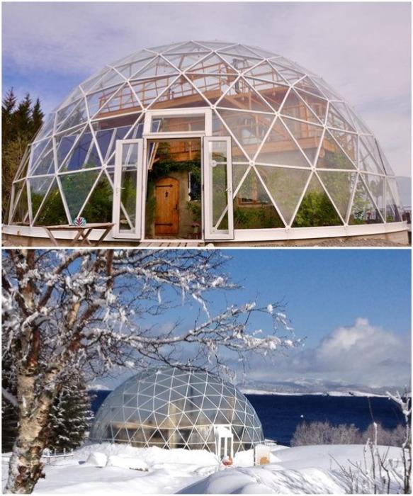 По такому же принципу в Норвегии в 2013 г. был создан уникальный дом Naturhuset («Природный дом»). | Фото: realty.tut.by.