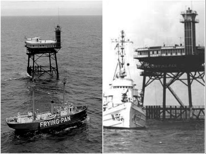 С 1960 г. металлическая платформа с маяком была береговой базой ВМФ США. | Фото: explore.org/ fptower.com.