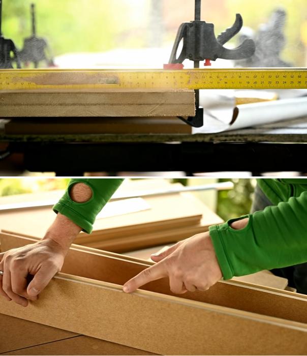 Обработка кромок – важный процесс. | Фото: youtube.com / © My DIY life.