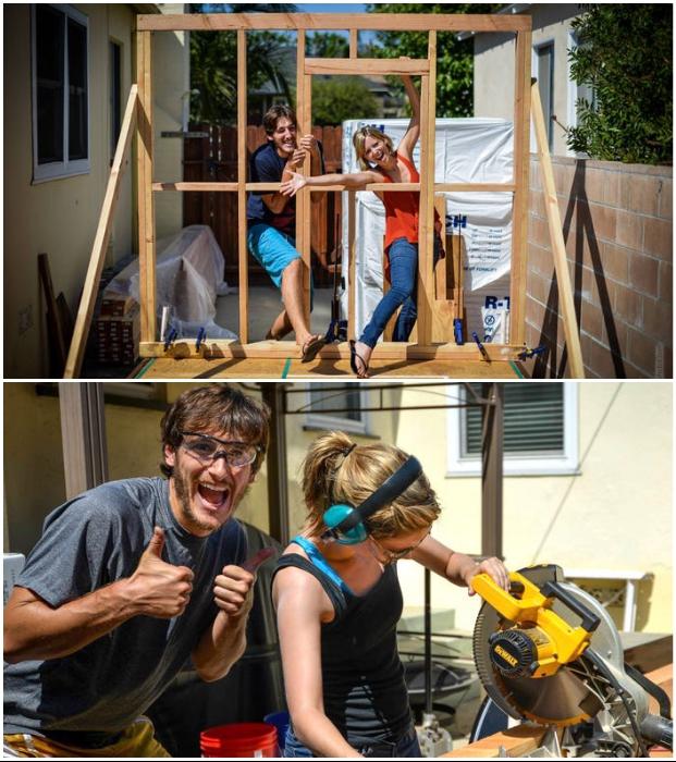 Из-за отсутствия финансов на покупку готового дома на колесах молодые люди потратили год, чтобы его сделать самостоятельно.