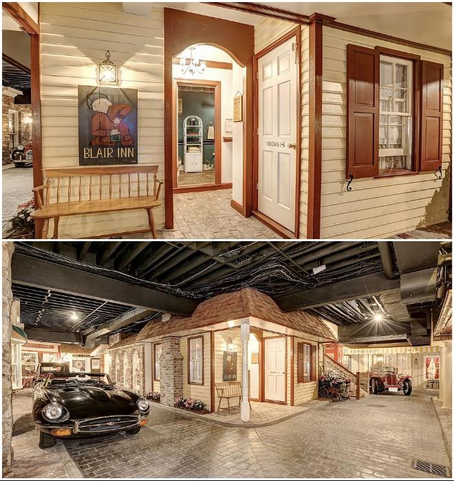 В подвальном городе оформлено 15 фасадов, за которыми можно найти бар, почту, кинотеатр, магазины и парикмахерскую (Round Hill, Мэриленд). | Фото: wideopencountry.com.