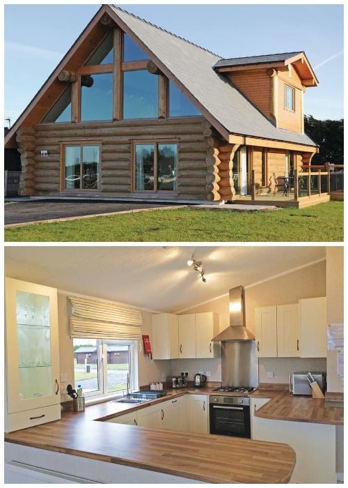 Для постояльцев кемпинга Ream Hills Caravan Park создали благоустроенную кухню-столовую (Ream Hills Caravan Park, Великобритания).