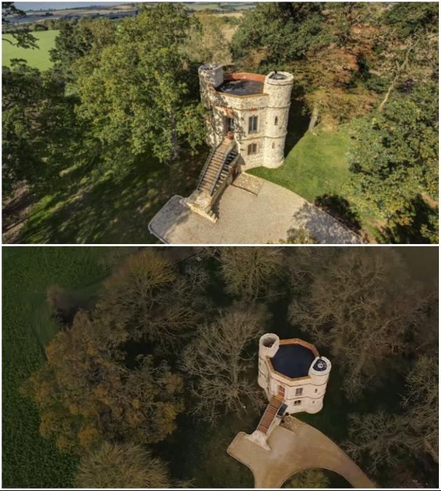 Крыша, утопающего в зелени трехэтажного здания легко может заменить домик на дереве («Aylesbury Vale Buckinghamshire»). | Фото: homesandproperty.co.uk.