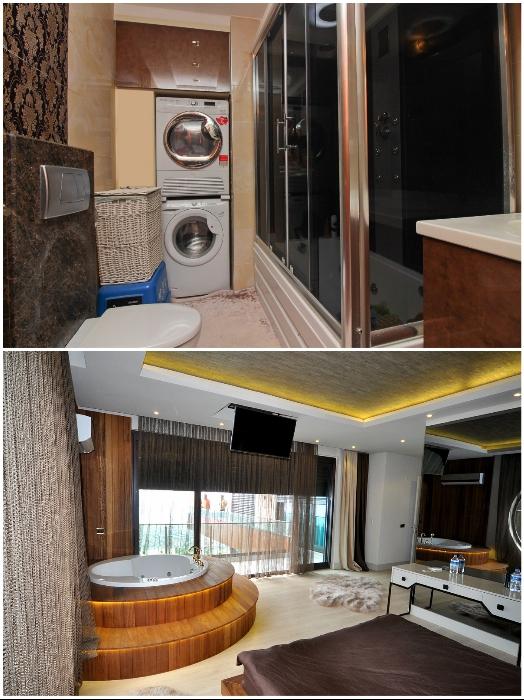 Только в элитных апартаментах можно встретить полноценные ванны, в остальных же установлены лишь душевые кабины. | Фото: turkeyforfriends.com.