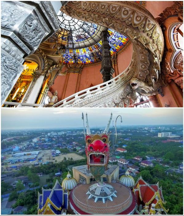 Фантастическая лестница ведет на крышу башни. | Фото: thailandfromabove.com/ travelask.ru.