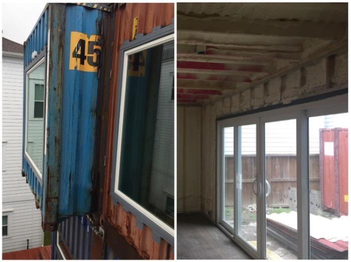 Чтобы дом был максимально светлым, установили большие окна (McGowen Container House). bionicweapon.wordpress.com.