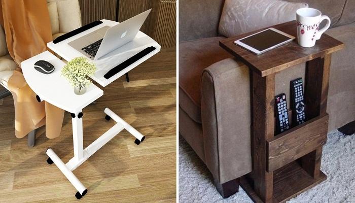 Приставной столик – идеальный предмет мебели и «организатор» дополнительной площади.