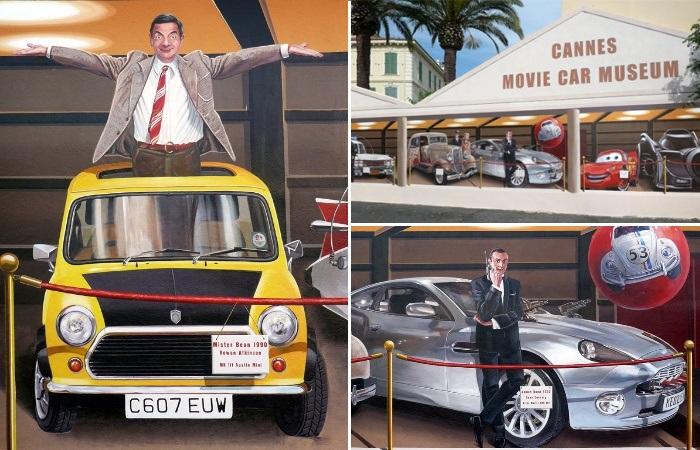 Торговые павильоны тоже могут «посещать» знаменитые актеры (Patrick Commecy & A.Fresco).   Фото: artofcare.ru.