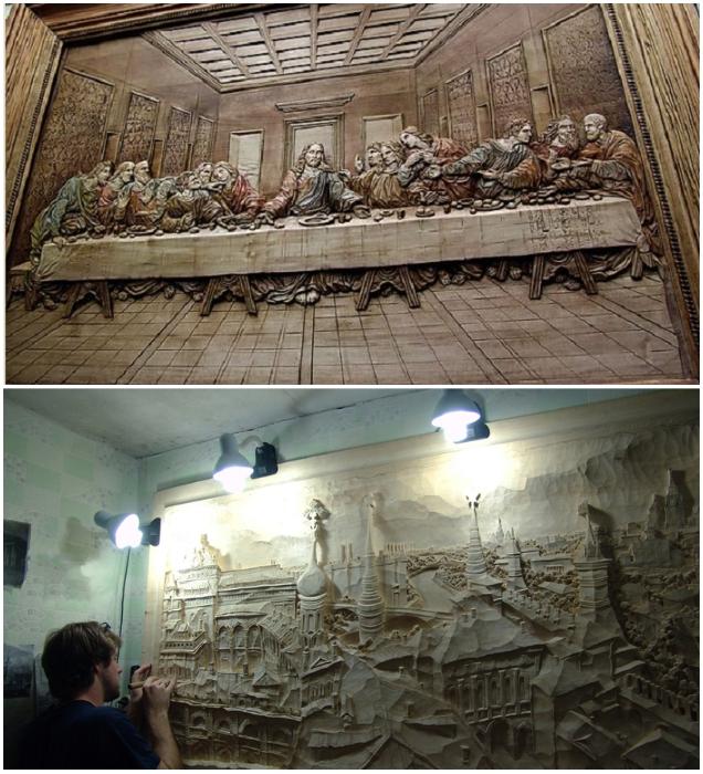 Талантливые мастера создают настоящие картины из дерева (авторские работы художественной мастерской Виктора Дубовика). | Фото: vatikam.com.