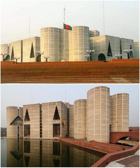 Национальная Ассамблея в Дакке стала своеобразным символом демократии и независимости суверенного государства Бангладеш. | Фото: dailyjagoran.com/ scaruffi.com.