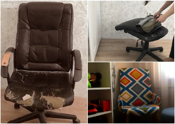 Стоит приложить руки, проявив фантазию, и потертое кресло заиграет новыми красками.