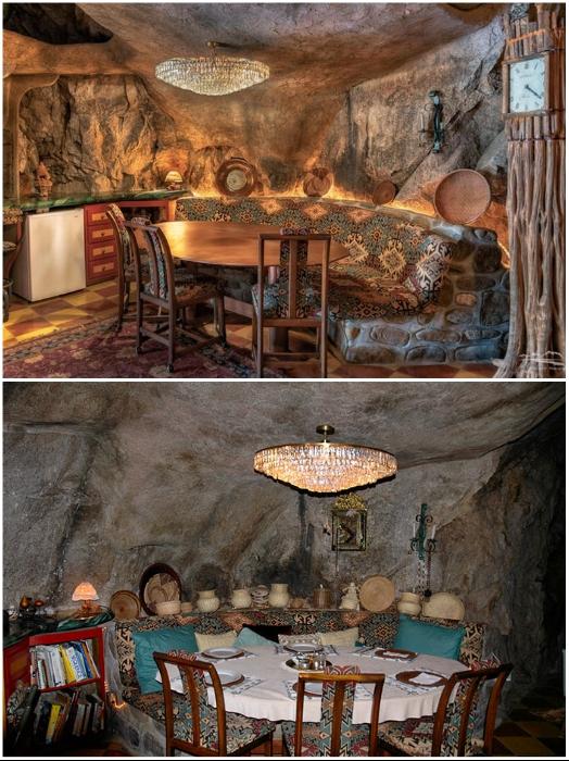 Столовая в подземном доме (Аризона, США). | Фото: moidom.boltai.com/ lemurov.net.