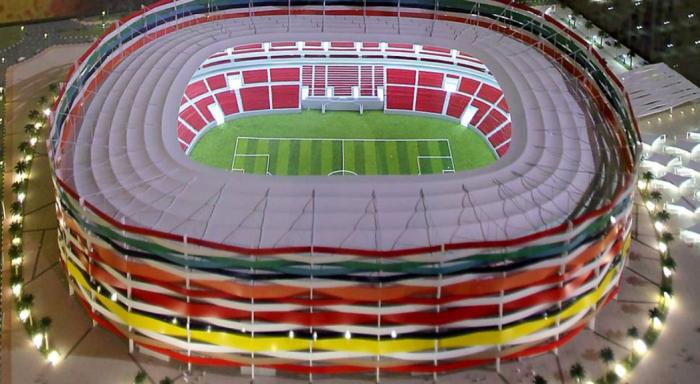 Специальные модульные конструкции помогут увеличить количество посадочных мест (Al-Gharafa Stadium, Катар). | Фото: fotografia.folha.uol.com.br.