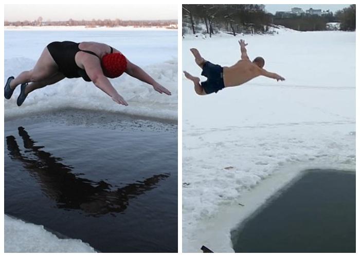 Прыжки в ледяную воду категорически запрещены.