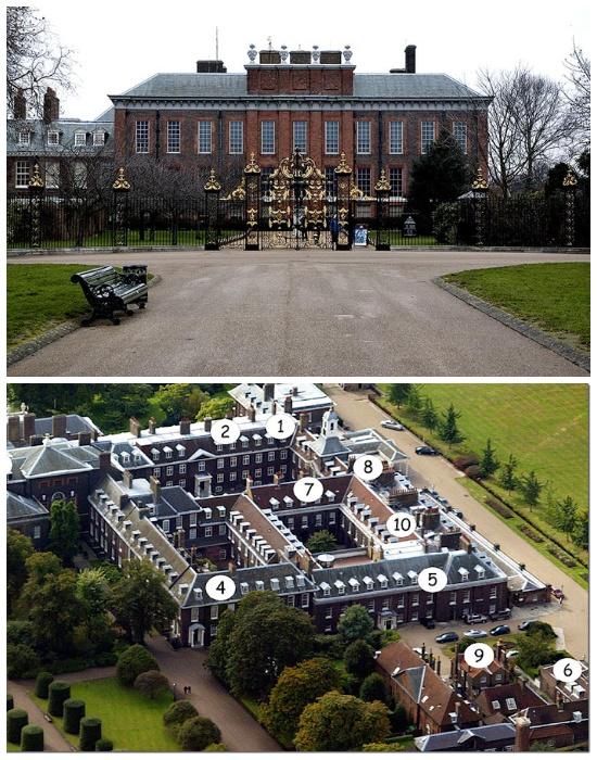 Кенсингтонский дворец в Лондоне был построен в 1605 году.