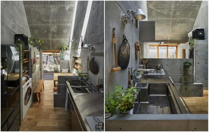 Семья любит вкусную домашнюю еду, поэтому значительное место занимает кухня и столовая («Love2House», Токио). | Фото: hosakatakeshi.com/ archidea.com.ua.