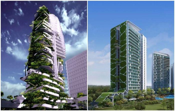 В мегаполисах все чаще создаются вертикальные леса (T. R. Hamzah & Yeang, «Tree House»). | Фото: theworldnews.net/ insideurbangreen.org.