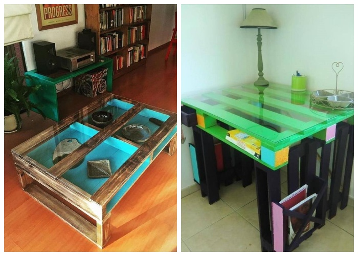 Вместо деревянной столешницы можно положить стекло.