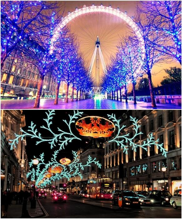 Настоящая феерия света, цвета и увлекательных приключений в преддверии Рождества (Лондон, Великобритания). | Фото: vyvchay.com/ london.zagranitsa.com.