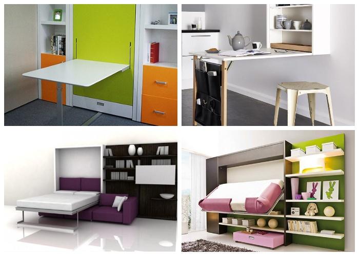Интересные модели многофункциональной мебели в интерьере квартиры. | Фото: pinterest.com.