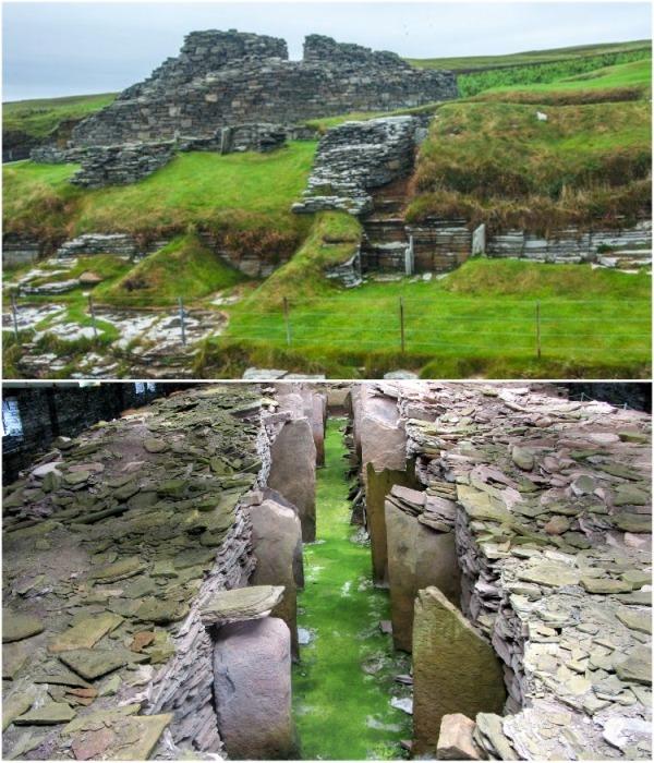 Название Мидхау происходит от массивного броха, обнаруженного к западу от гробницы (о. Раузи,  Шотландия). | Фото: dostoyanieplaneti.ru.
