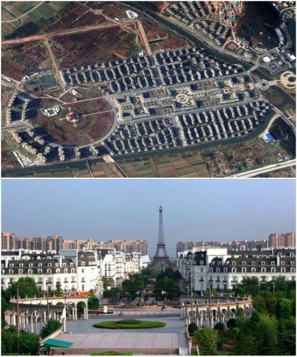 Уменьшенная копия исторической части Парижа (Тиандученг, Китай). | Фото: aleksstah.livejournal.com.