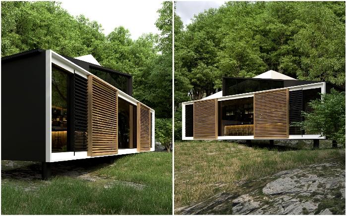 Концепция бара-ресторана Olhus forest создавалась для расположения в природной зоне.