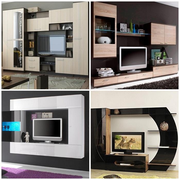 Различные модели мебельных стенок.