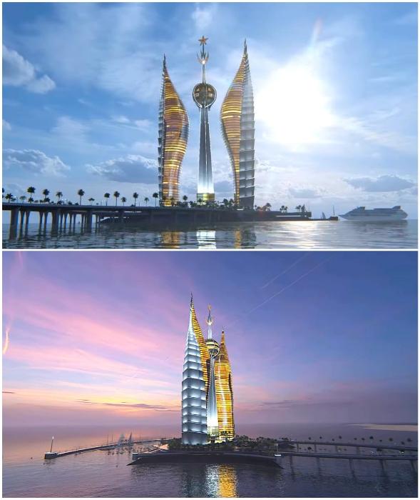 Национальные символы Республики Джибути легли в основу проекта Djibouti Towers (концепт).