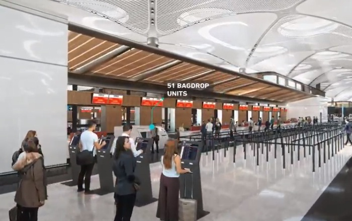 Пассажиры смогут самостоятельно сдавать багаж и пользоваться смарт-киосками ( Istanbul Grand Airport).