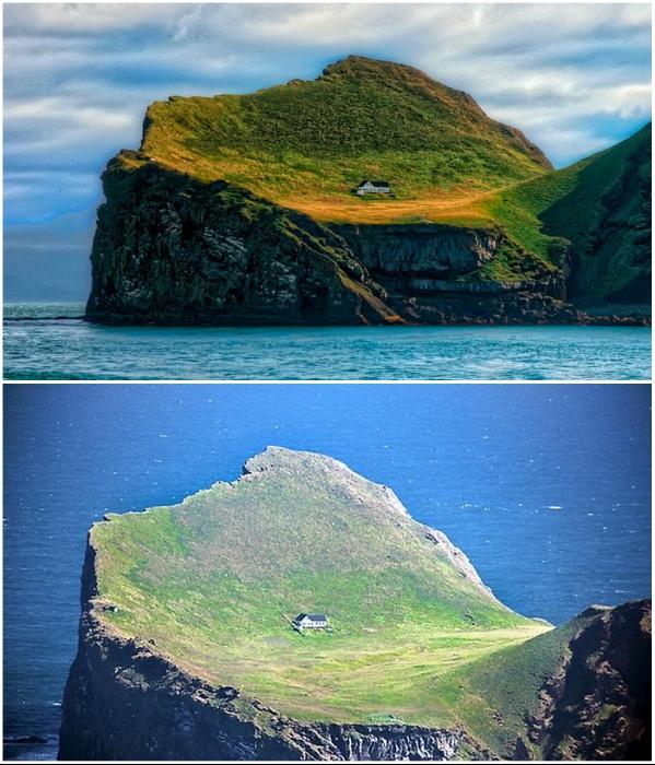 Несмотря на труднодоступность места, свежие фото появляются с завидной регулярностью (о.Эдлидаэй, Исландия). | Фото: designerdreamhomes.ru.