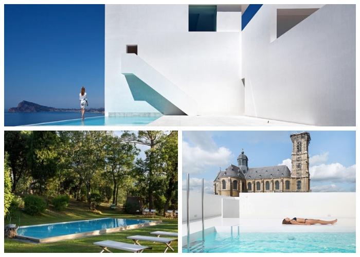 Удивительные варианты создания плавательных бассейнов в загородном доме.