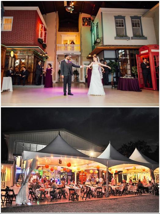 Мини-город стал излюбленным местом для проведения свадебных церемоний и различных мероприятий («Danville», США). | Фото: danvillebnb.com/ orlandodatenightguide.com.
