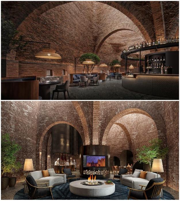 Перед взором посетителей открывается фантастический интерьер ресторана (50% Cloud, Китай).