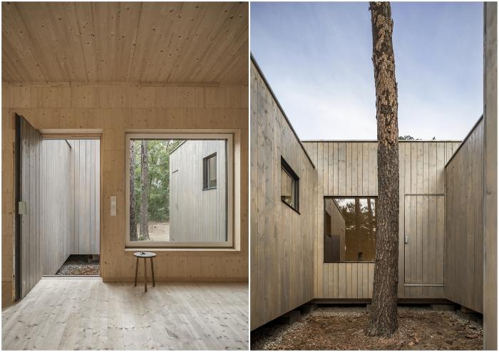 Из каждой комнаты-модуля есть выход на улицу (Haus Koeris, Германия). © Zeller & Moye.