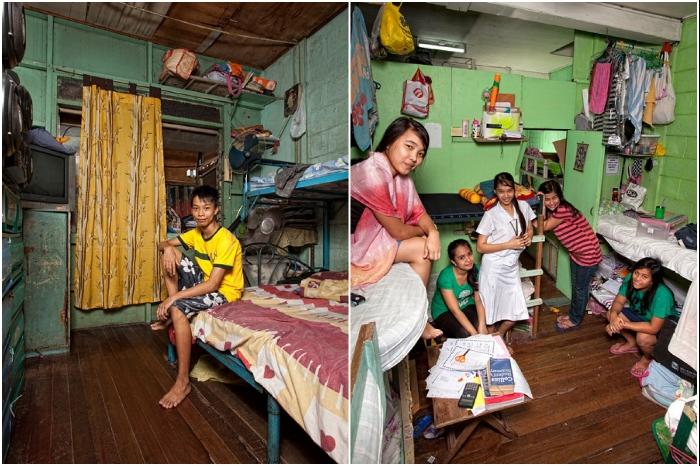 В Филиппинах в ВУЗах могут учиться дети из зажиточных семей, и они живут в таких условиях. | Фото: osvitanova.com.ua/ © Henny Boogert.