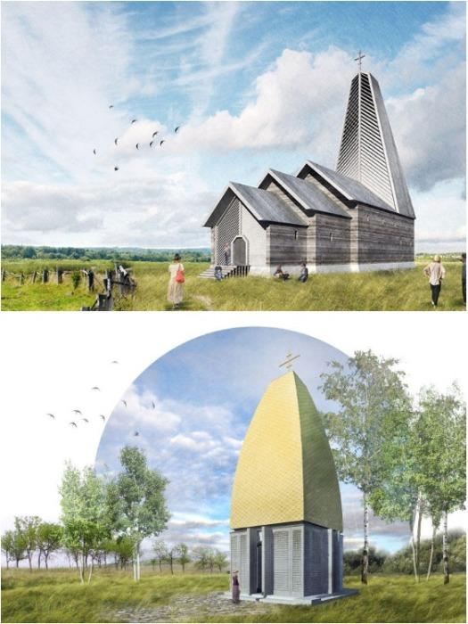 Проекты деревянного храма и часовни. | Фото: .livejournal.com.